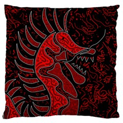 Red Dragon Standard Flano Cushion Case (one Side) by Valentinaart