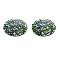 Blue Forget Me Not Flowers Cufflinks (oval) by picsaspassion