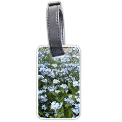 Blue Forget Me Not Flowers Luggage Tags (one Side)  by picsaspassion