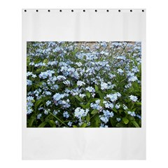 Blue Forget Me Not Flowers Shower Curtain 60  X 72  (medium)  by picsaspassion