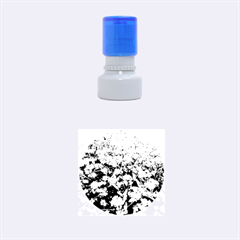 Blue Forget Me Not Flowers Rubber Round Stamps (small)