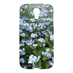 Blue Forget Me Not Flowers Samsung Galaxy S4 I9500/i9505 Hardshell Case by picsaspassion