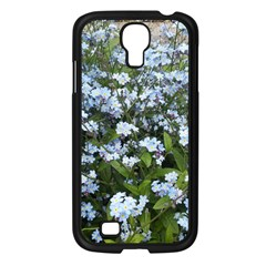 Blue Forget Me Not Flowers Samsung Galaxy S4 I9500/ I9505 Case (black) by picsaspassion