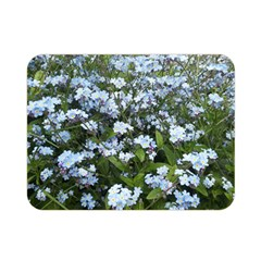 Blue Forget Me Not Flowers Double Sided Flano Blanket (mini)  by picsaspassion