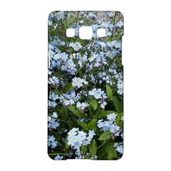 Blue Forget Me Not Flowers Samsung Galaxy A5 Hardshell Case  by picsaspassion