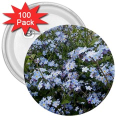 Little Blue Forget Me Not Flowers 3  Buttons (100 Pack)  by picsaspassion