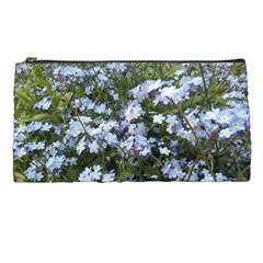 Little Blue Forget Me Not Flowers Pencil Cases by picsaspassion