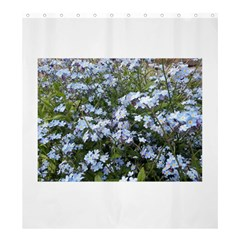 Little Blue Forget Me Not Flowers Shower Curtain 66  X 72  (large)  by picsaspassion