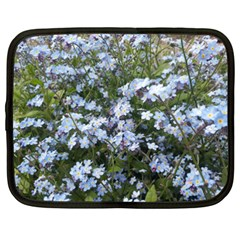 Little Blue Forget Me Not Flowers Netbook Case (xxl)  by picsaspassion