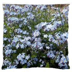 Little Blue Forget Me Not Flowers Large Flano Cushion Case (two Sides) by picsaspassion