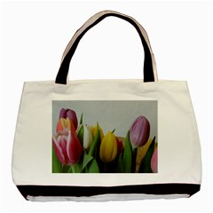 Colorful Bouquet Tulips Basic Tote Bag by picsaspassion