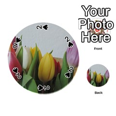 Colorful Bouquet Tulips Playing Cards 54 (round)  by picsaspassion