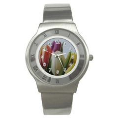 Colored By Tulips Stainless Steel Watch by picsaspassion