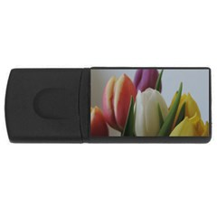 Colored By Tulips Usb Flash Drive Rectangular (4 Gb)  by picsaspassion