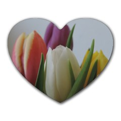 Colored By Tulips Heart Mousepads by picsaspassion