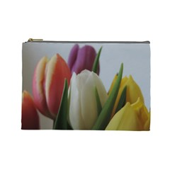Colored By Tulips Cosmetic Bag (large)  by picsaspassion