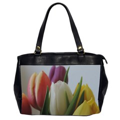 Colored By Tulips Office Handbags (2 Sides)  by picsaspassion