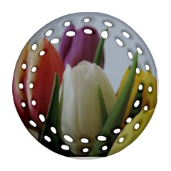 Colored By Tulips Ornament (round Filigree)  by picsaspassion