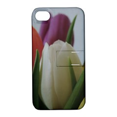 Colored By Tulips Apple Iphone 4/4s Hardshell Case With Stand by picsaspassion