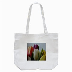 Colored By Tulips Tote Bag (white) by picsaspassion