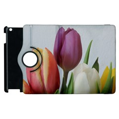 Tulip Spring Flowers Apple Ipad 3/4 Flip 360 Case by picsaspassion