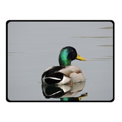 Swimming Duck Fleece Blanket (small) by picsaspassion