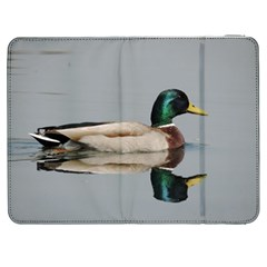 Wild Duck Swimming In Lake Samsung Galaxy Tab 7  P1000 Flip Case by picsaspassion