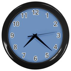 Blue Color Wall Clocks (black) by picsaspassion