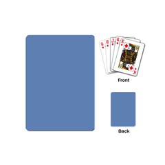 Blue Color Playing Cards (mini)  by picsaspassion