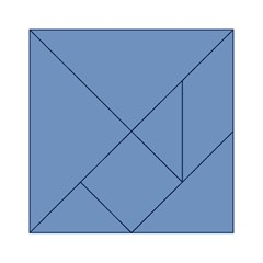 Blue color Acrylic Tangram Puzzle (6  x 6 ) by picsaspassion