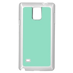 Mint Color Samsung Galaxy Note 4 Case (white) by picsaspassion