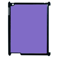 Lilac   Purple Color Design Apple Ipad 2 Case (black) by picsaspassion
