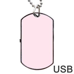 Pink color design Dog Tag USB Flash (Two Sides)  by picsaspassion
