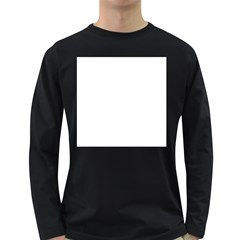 White Color Design Long Sleeve Dark T Shirts by picsaspassion