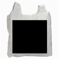 Black Color Design Recycle Bag (two Side)  by picsaspassion