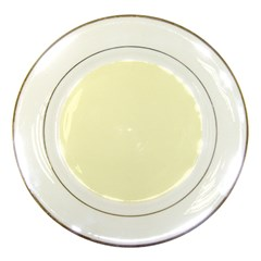 Yellow Color Design Porcelain Plates by picsaspassion