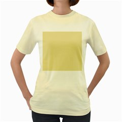 Gold Yellow Color Design Women s Yellow T Shirt by picsaspassion