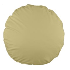 Gold Yellow Color Design Large 18  Premium Flano Round Cushions by picsaspassion
