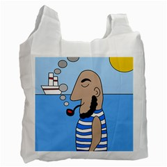 Sailor Recycle Bag (one Side) by Valentinaart
