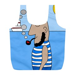 Sailor Full Print Recycle Bags (l)  by Valentinaart