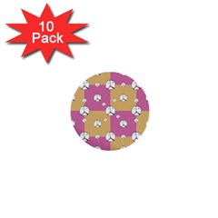Symbol Peace Drawing Pattern 1  Mini Buttons (10 Pack)  by dflcprints