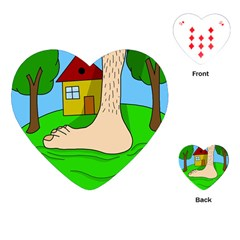 Giant Foot Playing Cards (heart)  by Valentinaart