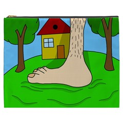 Giant Foot Cosmetic Bag (xxxl)  by Valentinaart