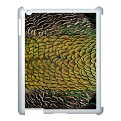 Peacock Bird Feather Color Apple iPad 3/4 Case (White) by Zeze