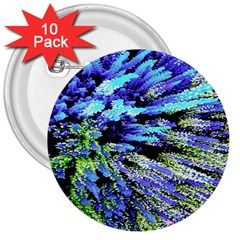 Colorful Floral Art 3  Buttons (10 Pack)  by yoursparklingshop
