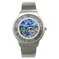 Colorful Floral Art Stainless Steel Watch by yoursparklingshop