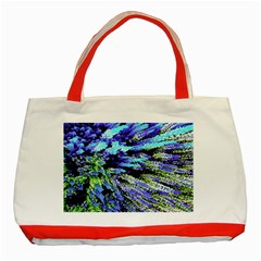 Colorful Floral Art Classic Tote Bag (red) by yoursparklingshop