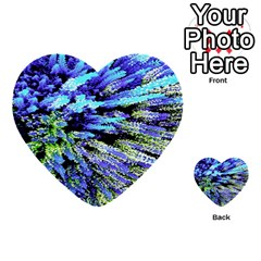 Colorful Floral Art Multi Purpose Cards (heart)