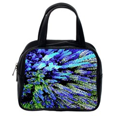 Colorful Floral Art Classic Handbags (one Side) by yoursparklingshop