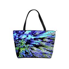 Colorful Floral Art Shoulder Handbags by yoursparklingshop